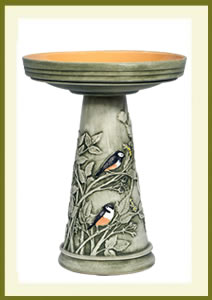 Chickadee Birdbath Set - Hand-Painted $139.99
