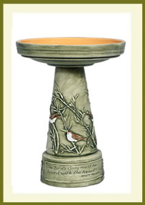 Garden Songbird Birdbath Set - Hand-Painted $139.99