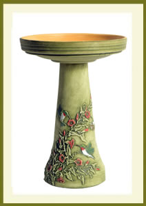 Hummingbird Birdbath Set - Hand-Painted $139.99