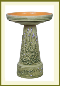 Lavender Birdbath Set - Hand-Painted $139.99