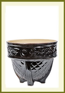 Porch Pot (12_ x 10_) - Mirror Black $59.99
