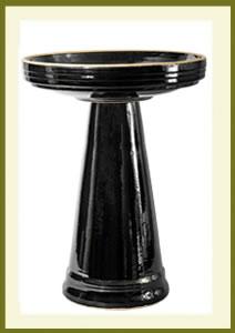 Simple Elegance Birdbath Set - Mirror Black $119.99