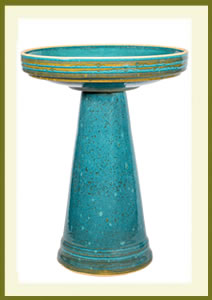 Simple Elegance Birdbath Set - Mosaic Turquoise $119.99