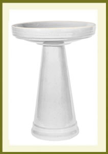 Simple Elegance Birdbath Set - White $119.99