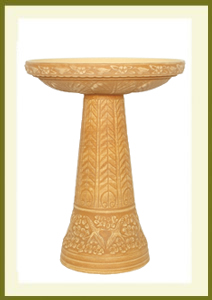 Summer Garden Birdbath Set - Loam Brown $109.99