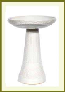 Summer Garden Birdbath Set - White $109.99