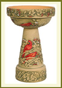 Cardinal Handpainted Planter Set  $149.99